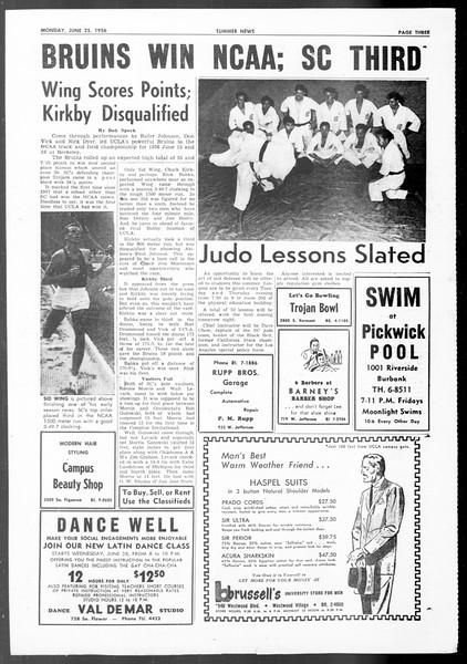 Summer News, Vol. 11, No. 1, June 25, 1956