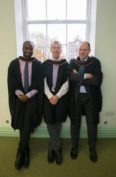 30/10/2015. Waterford Institute of Technology Conferring.  Pictured are Herve Luyindula, Belgium, Darrahn Wilkinson, Cappoquin, Waterford, Peter McGorry, Kilkenny. Picture: Patrick Browne