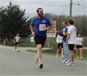 2003 Sooke River 10K - Bob Sackett with massive air