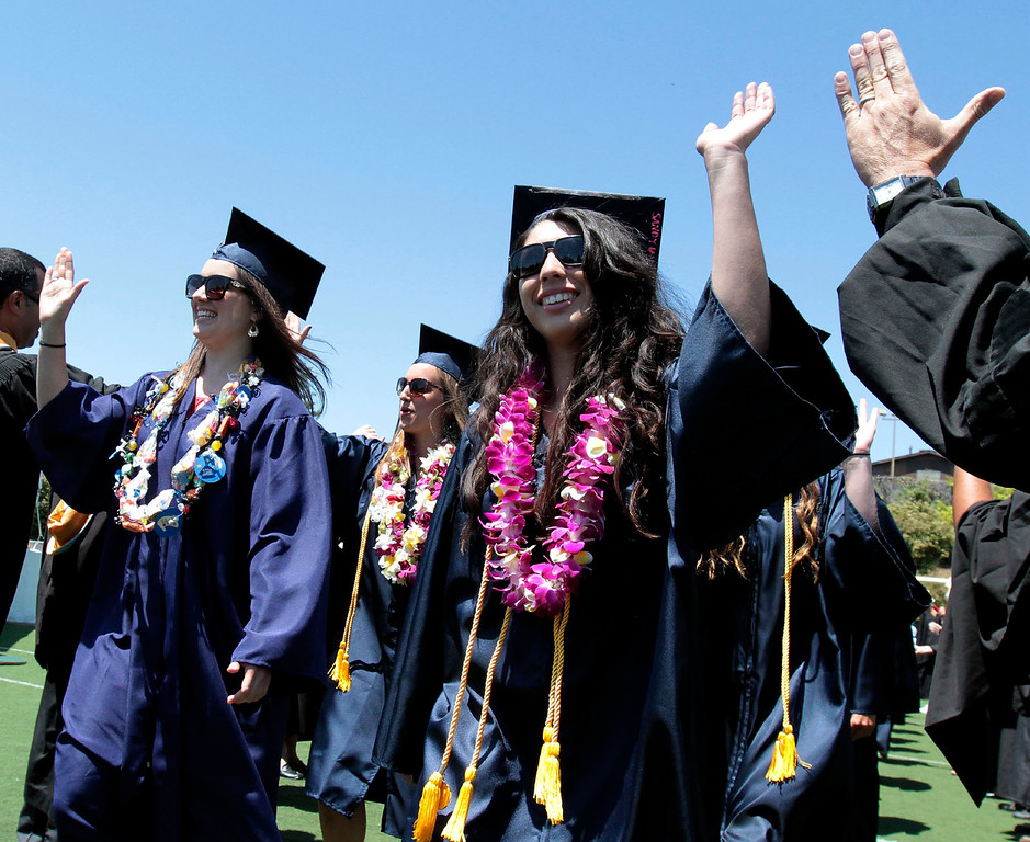 . Aptos High School graduation at Cabrillo College on Thursday June 6, 2013 Photo by Shmuel Thaler/Santa Cruz Sentinel