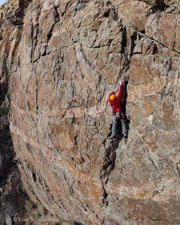 Climbing in Cody, WY