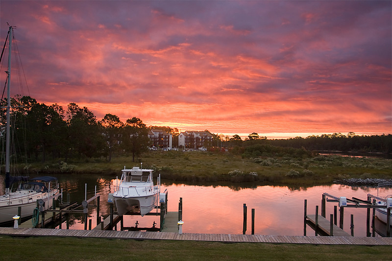Early morning at Sailboat Bay, Gulf Shores, AL