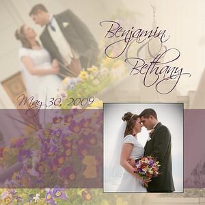 Bethany and Ben Digital Wedding Album Layout