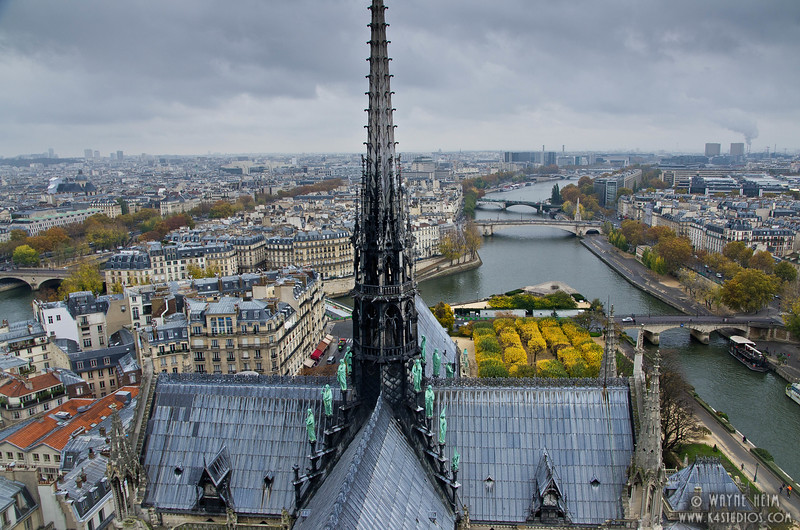 Spire of Notre Dame     Photography by Wayne Heim