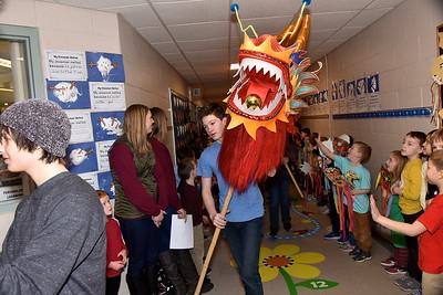 AMHS Dragon Visits Fisher photos by Gary Baker