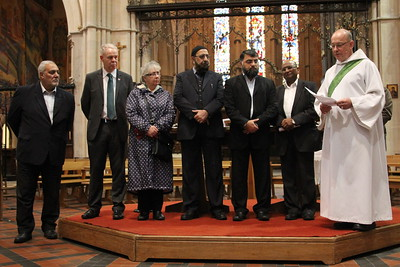 Multi-faith prayers at St Mary's Cathedral - 15 November 2015