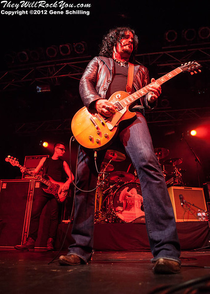 August 25, 2012 - THE TEA PARTY performs at The Tecumseh Corn Festival in Tecumseh, Ontario, Canada.  Photos copyright Gene Schilling www.musicimagesbygene.com.