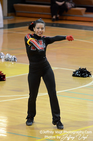 01-12-2013 Northwood HS Poms at Damascus HS Division 3, Photos by Jeffrey Vogt Photography