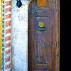 Blue Door in Istanbul, Turke