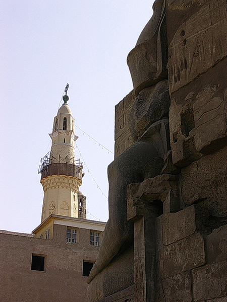 Abu El-Haggags moské i Luxortemplet (Foto: Ståle)