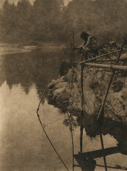 Fishing from a platform (The North American Indian, v. XIII. Norwood, MA, The Plimpton Press,  1924)