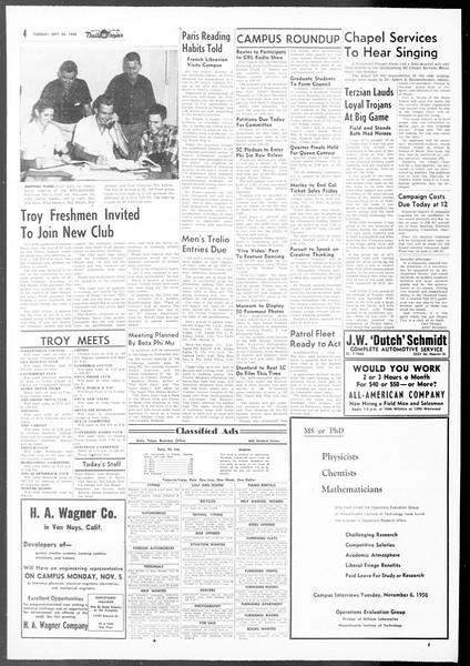 Daily Trojan, Vol. 48, No. 28, October 30, 1956