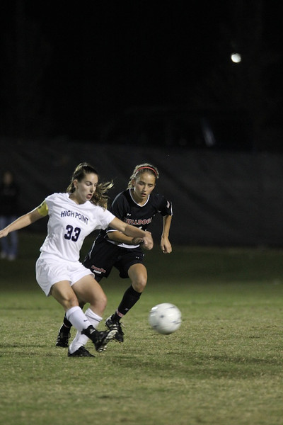 Addison Abee, 31, defends the goal.