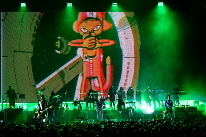 GORILLAZ AT THE WELLS FARGO CENTER IN PHILLY