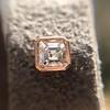 .52ctw Asscher Cut Diamond Bezel Stud Earrings, 18kt Rose Gold 1