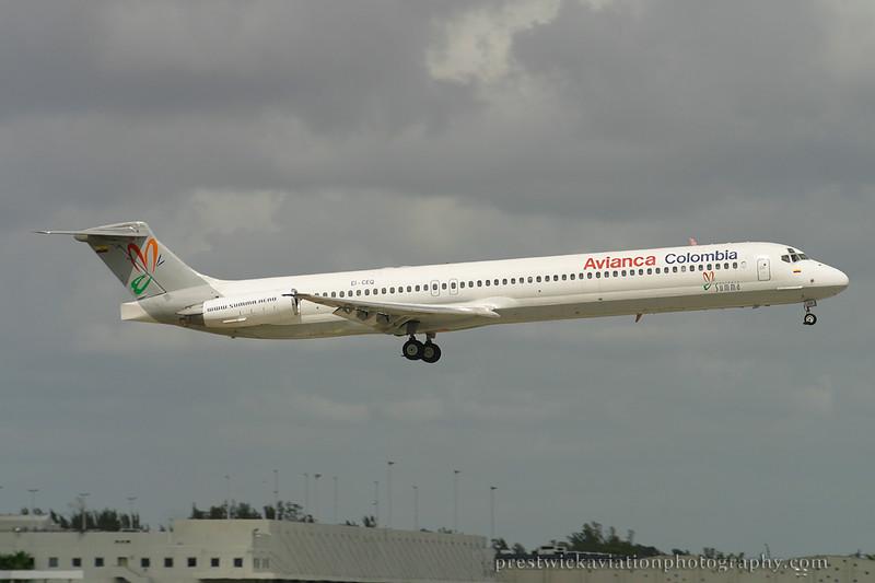 EI-CEQ. McDonnell Douglas MD-83. Avianca. Miami. 030304.