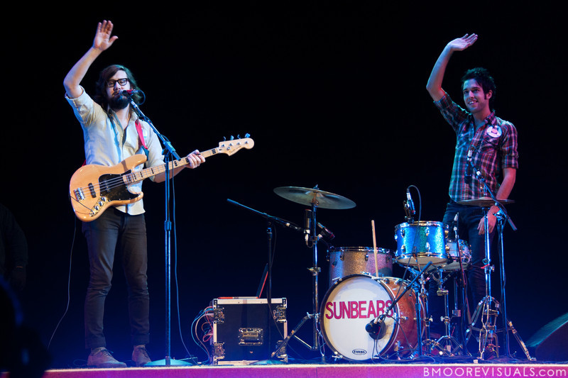 """Jonathan Berlin and Jared Bowser of Sunbears perform during Yo Gabba Gabba! Live! brings """"There's A Party In My City"""" at St. Pete Times Forum on October 30, 2010 in Tampa, Florida"""