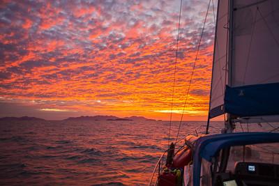 Sailing north