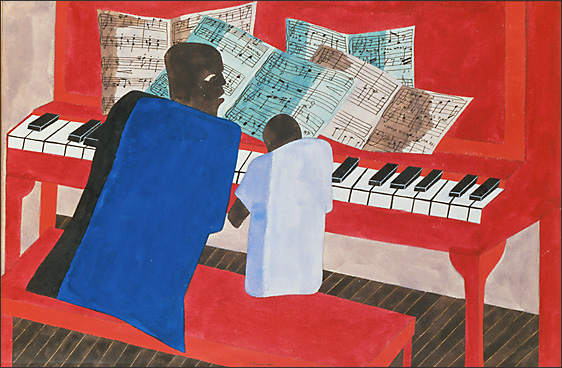 "Jacob Lawrence, ""Mothers and Fathers Work Hard to Educate Their Children"" (1943)"