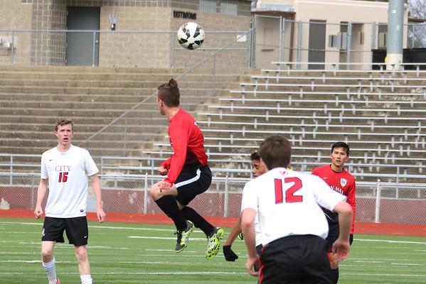 Linn-Mar  vs. Iowa City Highat  Boys' Soccer Jamboree 3/31/16