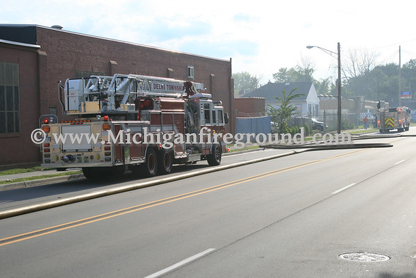 8/12/11 - Lansing industrial building fire, 209 W. Mt. Hope