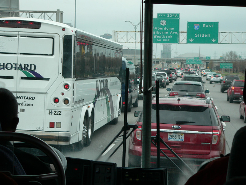 It was Mardi Gras so I took the cruise line shuttle from the airport to the ship.....good thing as traffic was horrible!