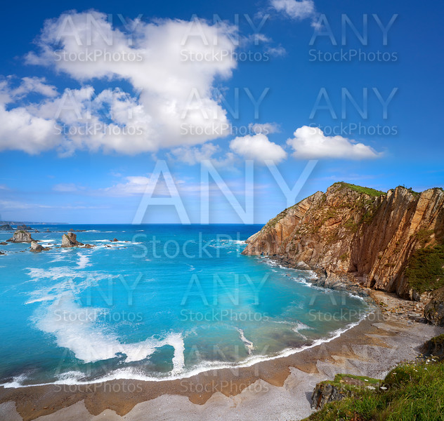Playa del Silencio in Cudillero Asturias Spain