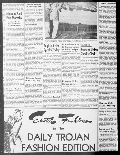 Daily Trojan, Vol. 33, No. 97, January 26, 1942