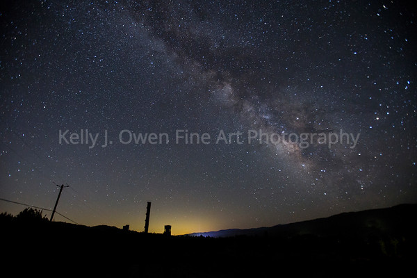 Milky Way rises over Boonville, California
