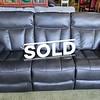 New Black Leather Reclining Sofa