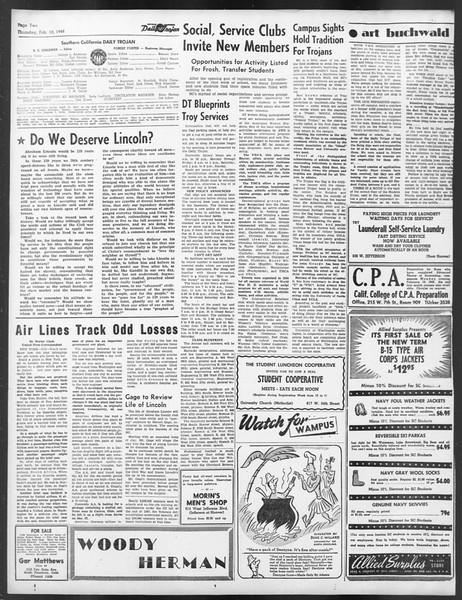 Daily Trojan, Vol. 39, No. 77, February 12, 1948