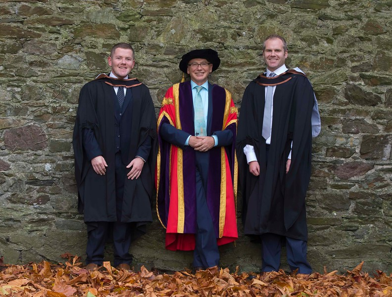 28/10/2015. Waterford Institute of Technology Conferring. Pictured are Eoin Doherty from Kilkenny and Jamie Hurley, Tramore who graduated BA (Hons) in Psychiatric Nursing. Picture: Patrick Browne