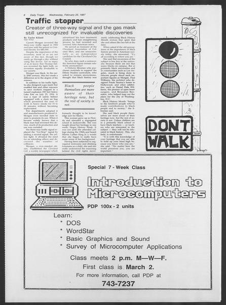 Daily Trojan, Vol. 103, No. 30, February 25, 1987