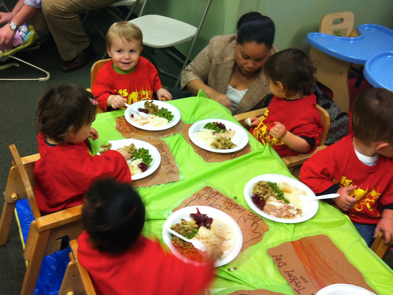 Happy Turkey Day lunch at daycare.
