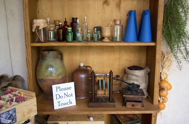 Items in a working cabinet downstairs