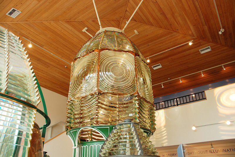 Glass prisms used in lighthouses