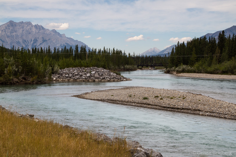 along the Bow River, Canmore
