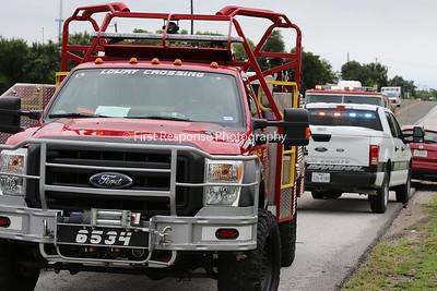 Branch TX. Mutual Aid shed fire 7/5/17