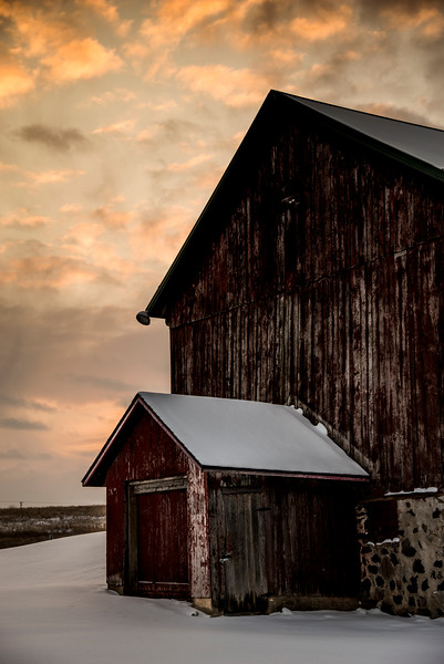 Barns and Moon