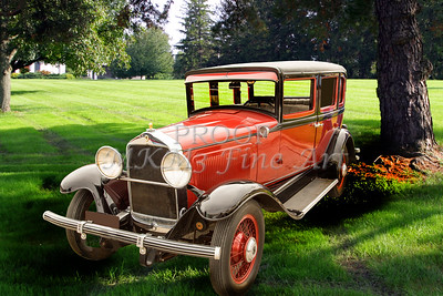 1929 Willys Knight Classic Car Art Photograph