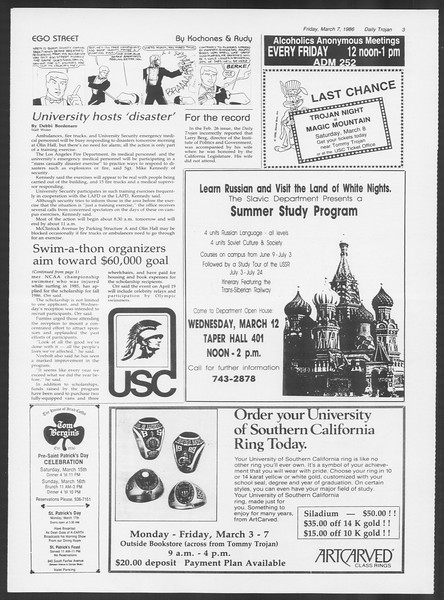 Daily Trojan, Vol. 100, No. 39, March 07, 1986
