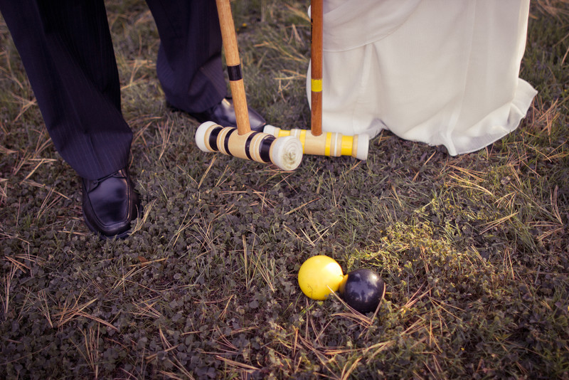 Jeff and Kristina's first croquet match as a married couple!