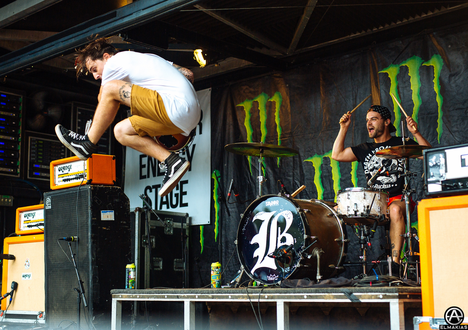 Kamron Bradbury and Brandon Mullins of Beartooth live at Vans Warped Tour 2015 by Adam Elmakias