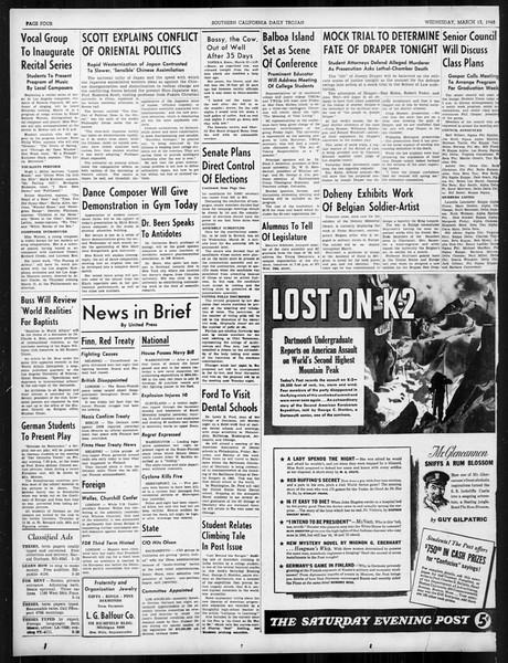 Daily Trojan, Vol. 31, No. 103, March 13, 1940