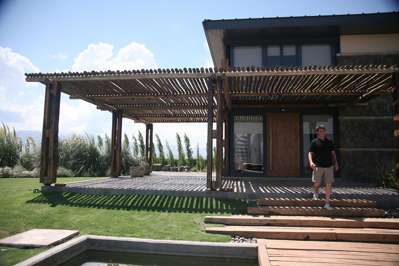 At Caelum winery, a family business. The son gave us a private tour and tasting.