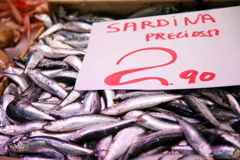 Sardines, Boqueria market, town of Barcelona, autonomous commnunity of Catalonia, northeastern Spain