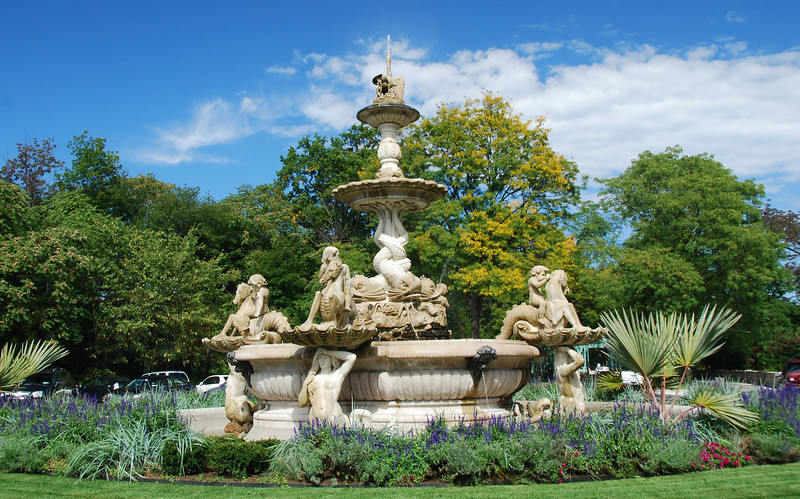 The recently restored Italian Fountain (Como, Italy 1872)donated by the Rockefeller's to the Zoo in 1902