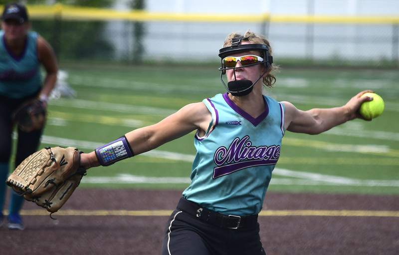 7/28/2018 Mike Orazzi   Staff CT Mirage's Abby Wells (2) at Chesley Park in New Britain Saturday afternoon.
