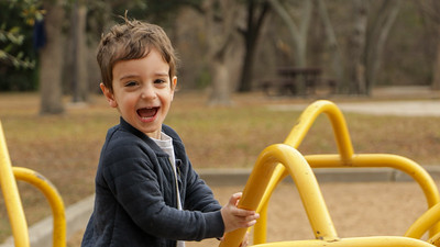 Ethan in the Park after Christmas