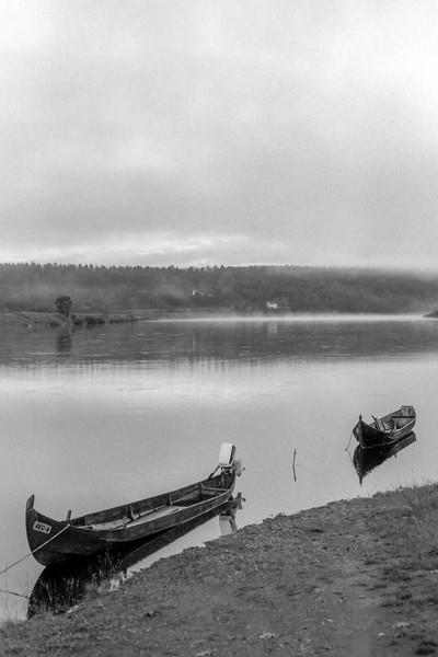 Two Boats - Karasjok, Norway - July 1989